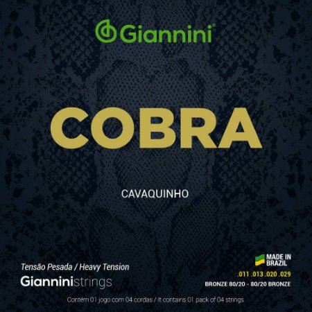 Encordoamento Cavaquinho Giannini Cobra Bronze 80/20 CC82H Pesada 011-029