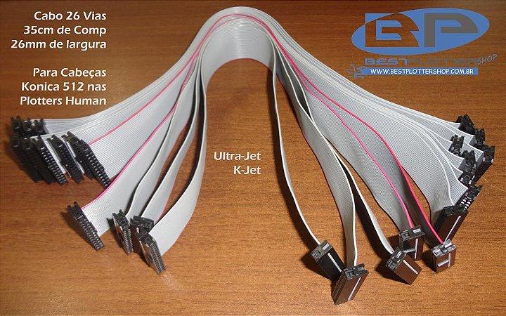 Cabo Cabeça Konica - 26 Vias - K-Jet e Ultra-Jet
