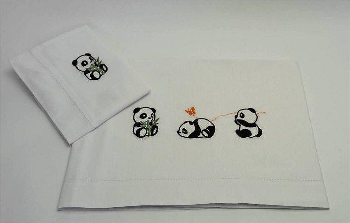 Jogo Para Cama de Solteiro Panda