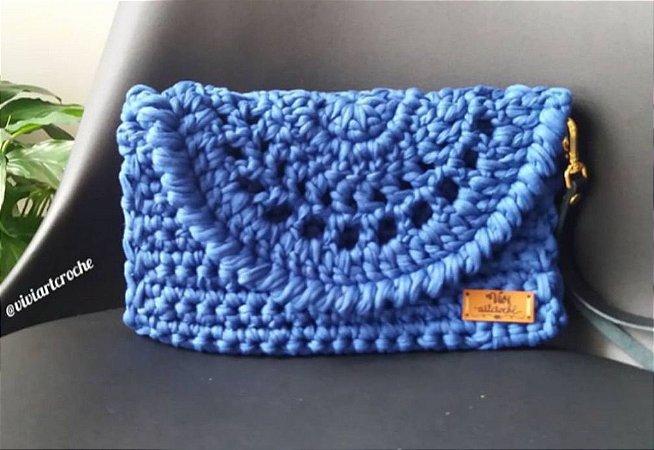Clutch / Bolsa de mão aba rendada em crochê