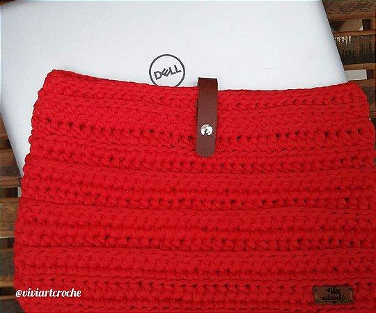 Capa para notebook em crochê personalizada