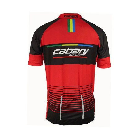 CAMISA CICLISMO CABANI  RED BLACK