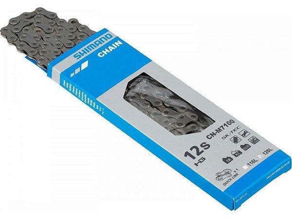 CORRENTE SHIMANO SLX M7100 12V 138 ELOS  C/QUICK LINK