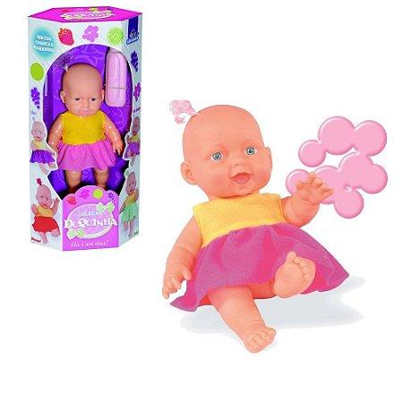 Boneca Duquinha Chupeta E Mamadeira Infantil
