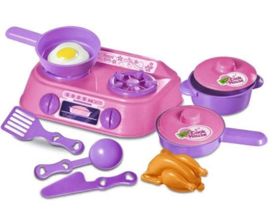 Kit Conjunto Nossa Cozinha 9 Peças Brinquedo Infantil