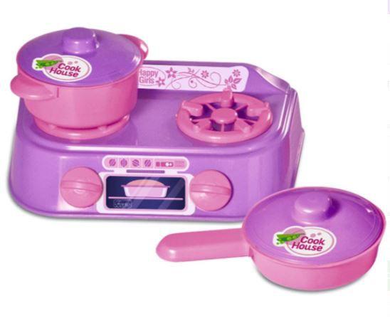 Kit Conjunto De Cozinha Com 3 Peças Brinquedo Infantil