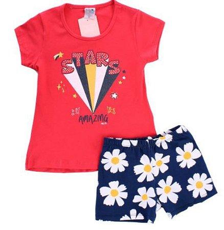 Conjunto Infantil Bebê Feminino Camiseta + Shorts Sortidos
