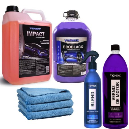Kit Vonixx Impact+ Verniz Motor+ Blend Spray+ Ecoblack + Mic