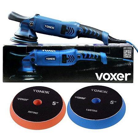 Politriz Roto Orbital 15mm 5pol 110v Voxer + 2 Boinas Vonixx