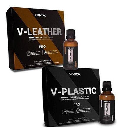 Kit Vitrificação 50ml V-plastic V-leather Vonixx
