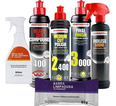 Kit Polimento Hcc400 2400 3000 250ml Menzerna + Combo
