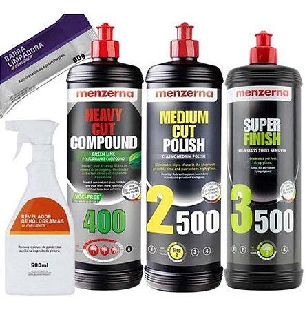 Kit Polimento Hcc400 Green 2500 3500 1l Menzerna + Combo