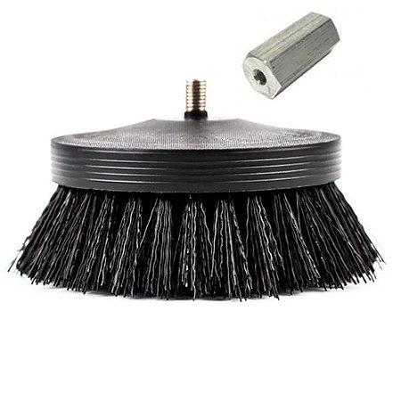 "Escova Pneumatic Carpet Brush 3,5"" (Black) Agressiva - SGCB"