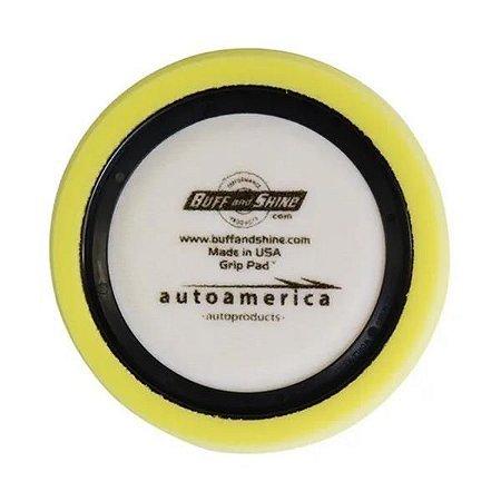 """Boina de Espuma Amarela - (Macia) Anel Centralizador 7,5"""" - Buff And Shine"""