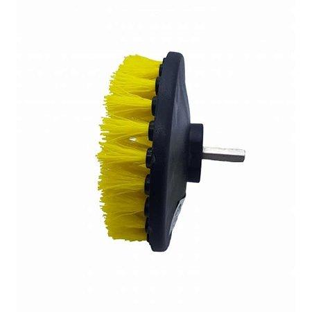 "Escova Rotativa Drill Amarela - Cerdas Agressivas 5"" - Kers"