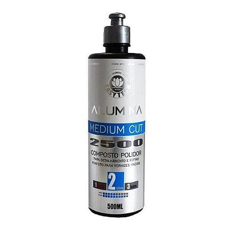 Alumina Medium Cut 2500 Polidor Refino 500ml - Easytech