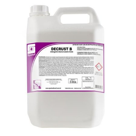 Decrust B - Desincrustante 5L - Spartan