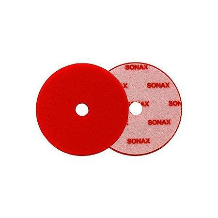 """Boina de Espuma Vermelha - Corte C/ Furo 5,5"""" - Sonax"""