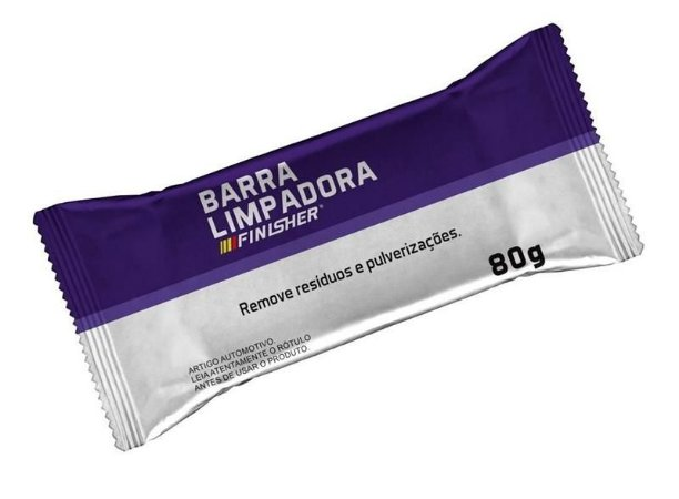 Clay Bar Barra Limpadora (Remove Pulverizações de Tinta) 80gr - Finisher