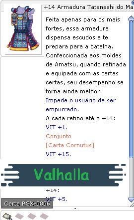 +14 Armadura Tatenashi do Mamute