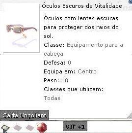 Óculos Escuros da Vitalidade Vit +1