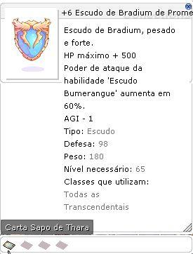 +6 Escudo de Bradium de Prometeu