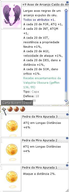 +9 Asas de Arcanjo Caído do Antiatirador Mira 3/2/1