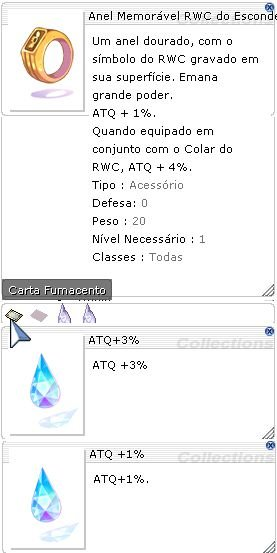 Anel Memóravel RWC do Esconderijo ATQ 3%/1%
