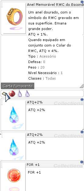 Anel Memorável RWC do Esconderijo ATQ 2%/2% For +1