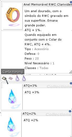 Anel Memorável RWC Clarividente ATQ 3%/2%