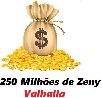 250 milhões de Zeny - 250 kks ( Ragnarok Valhalla )