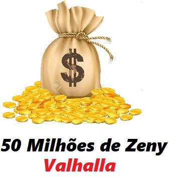 50 milhões de Zeny - 50 kks ( Ragnarok Valhalla )