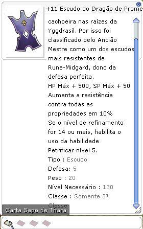 +11 Escudo do Dragão de Prometeu