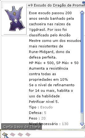 +9 Escudo do Dragão de Prometeu