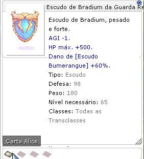 Escudo de Bradium da Guarda Real