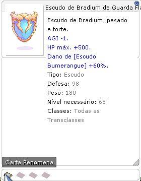 Escudo de Bradium da Guarda Flamejante