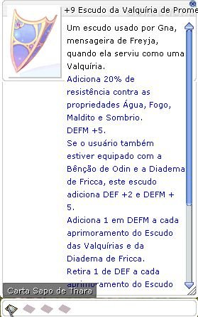 +9 Escudo da Valquíria de Prometeu