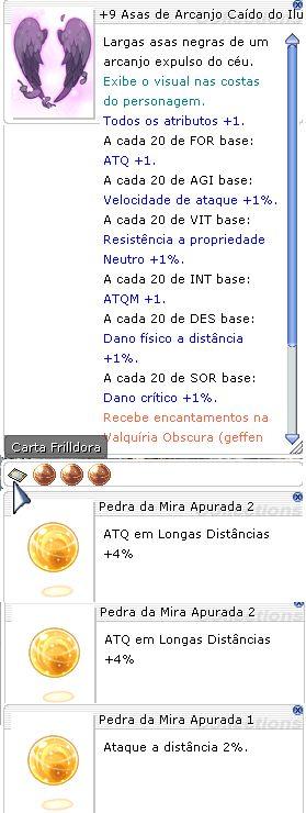 +9 Asas de Arcanjo Caído do Ilusionista Mira 2/2/1