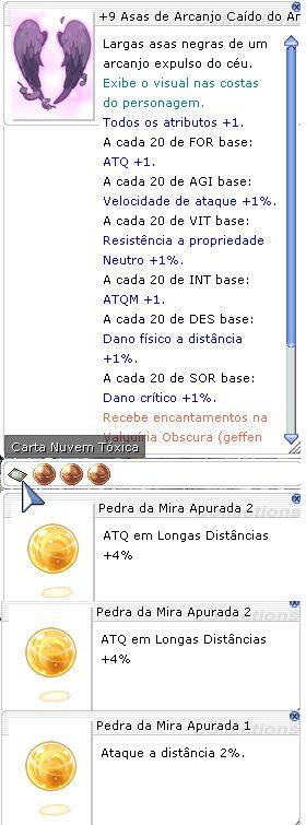 +9 Asas de Arcanjo Caído do Antiatirador Mira 2/2/1