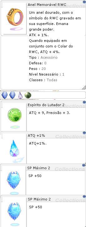 Anel Memorável RWC  Lutador 2/1 SP +50/+50