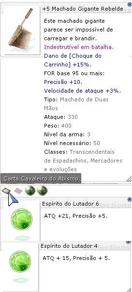 +5 Machado Gigante Rebelde Lutador 6/4