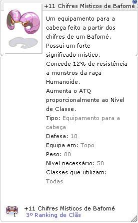+11 Chifres Místicos de Bafomé 3°Ranking de Clãs