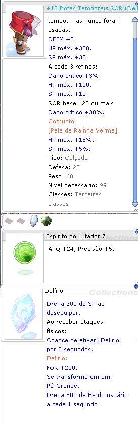 +10 Botas Temporais SOR Delírio / Lutador 7