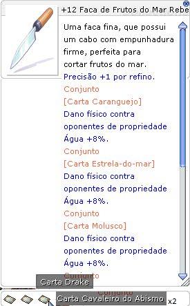 +12 Faca de Frutos do Mar Rebelde Bi do Infinito
