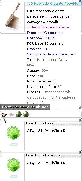 +10 Machado Gigante Rebelde Lutador 7/6