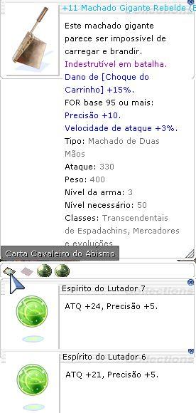 +11 Machado Gigante Rebelde Lutador 7/6