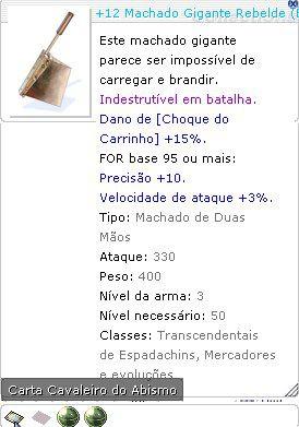 +12 Machado Gigante Rebelde Lutador 6/5