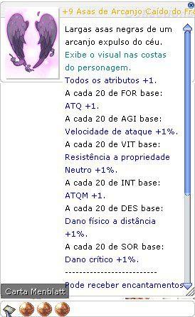 +9 Asas de Arcanjo Caído do Franco Atirador Mira 3/2/3
