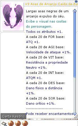 +9 Asas de Arcanjo Caído de Balder Mira 3/3/1