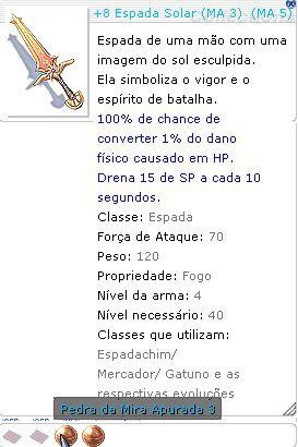 +8 Espada Solar Mira 5/3